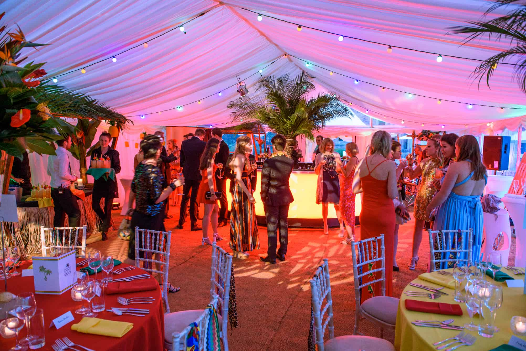 Caribeean themed marquee