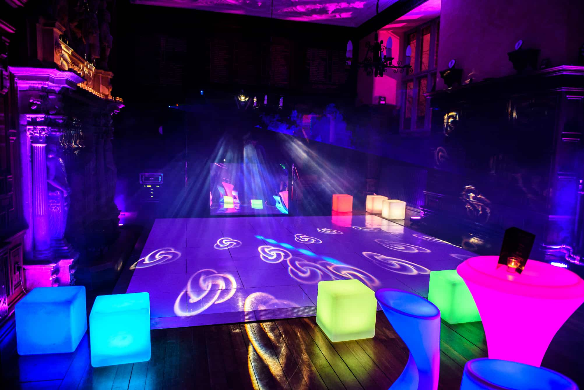 LED furniture and dance floor