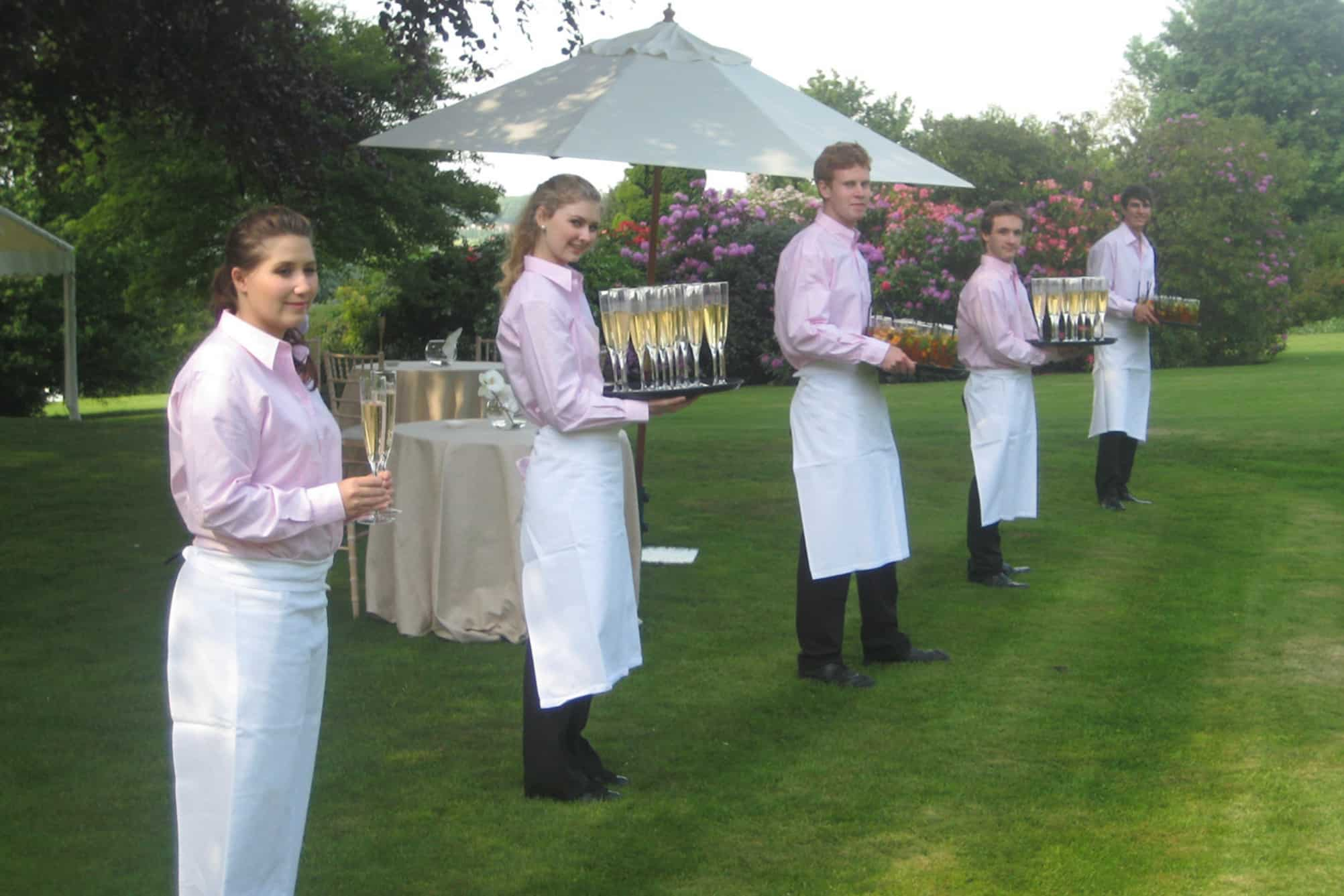 Waiting staff outdoor event