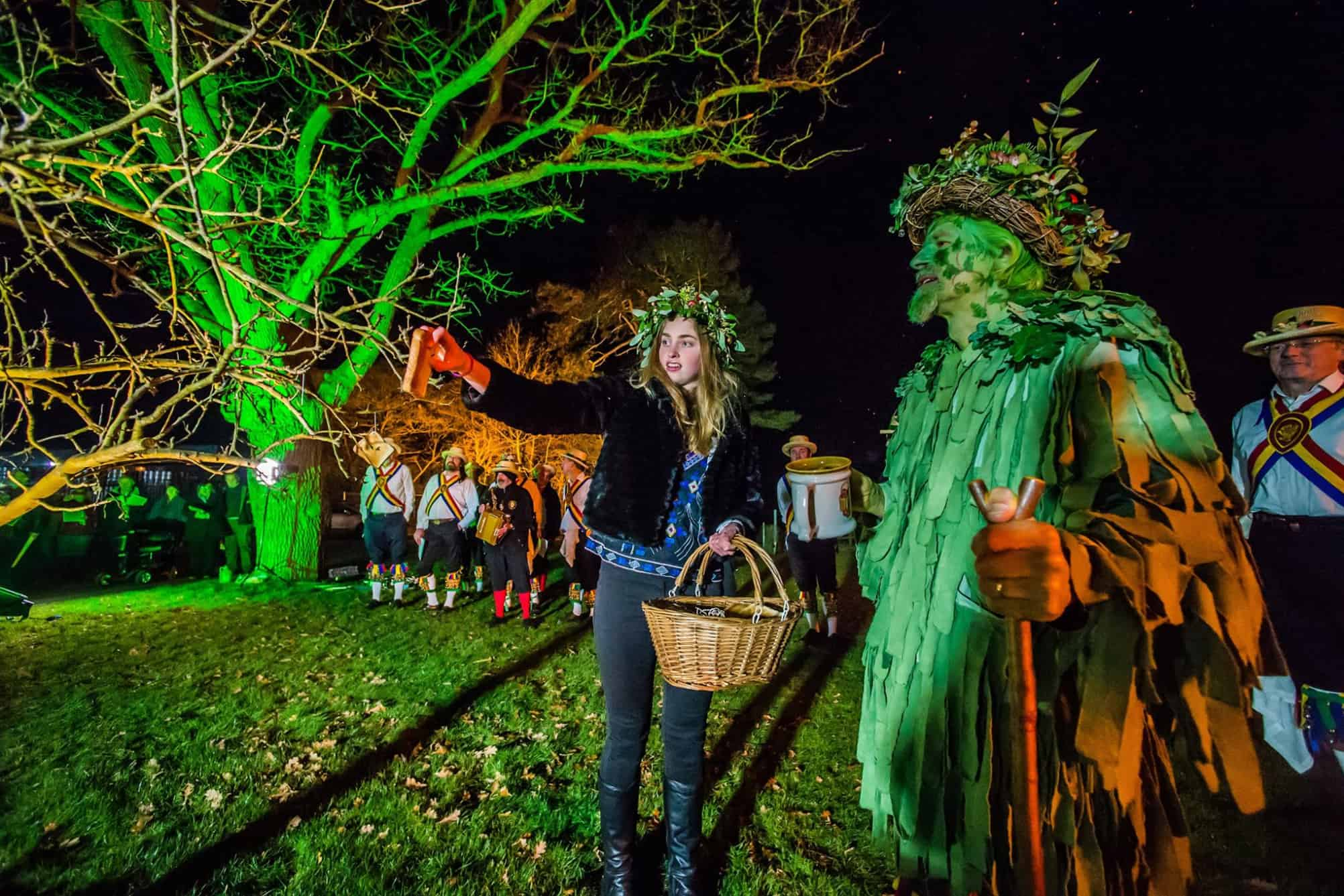 Wassail Queen and Green Man