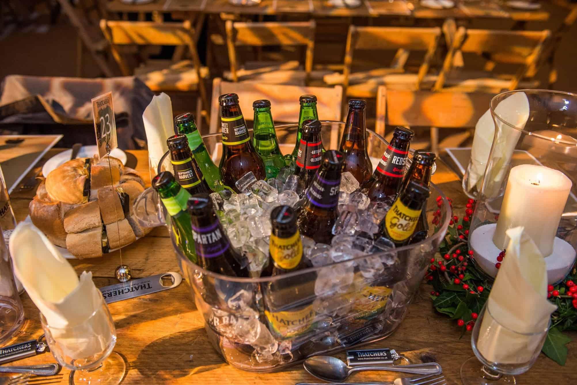 Cider centrepieces