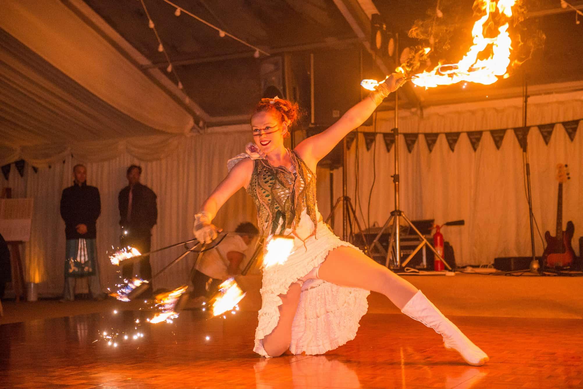 Fire dancer entertainment