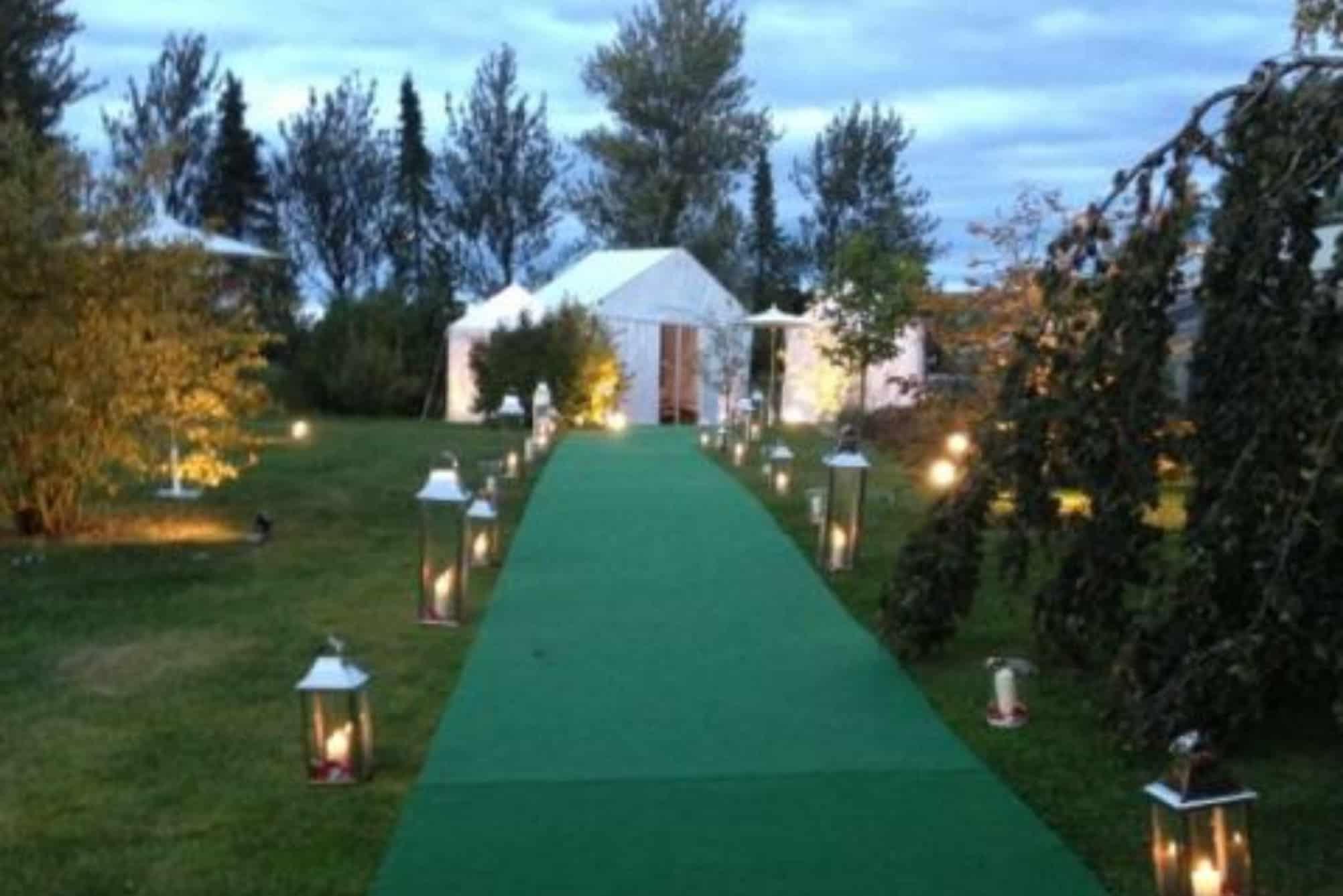 Lantern lit walk way