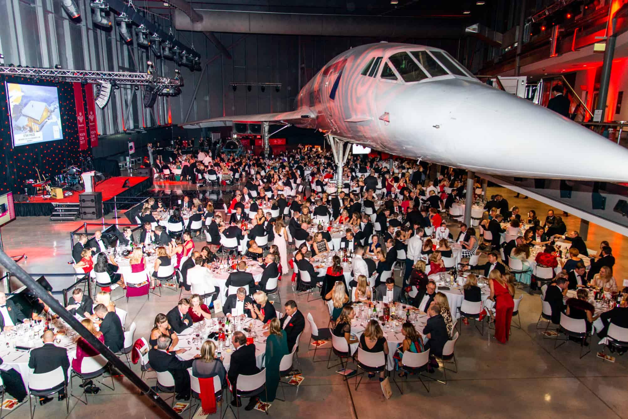 Dining under Concorde