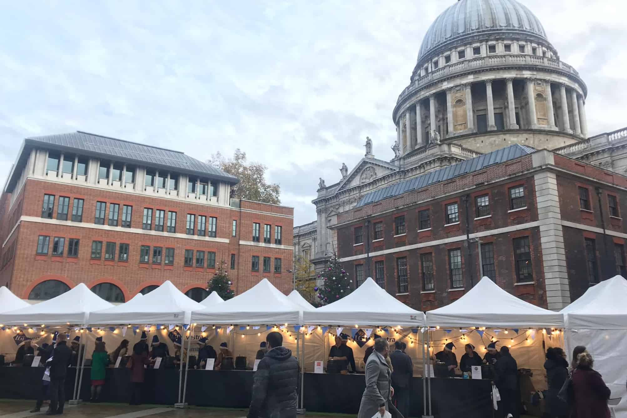 Food market outside St Pauls Cathedral