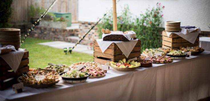 outdoor buffet station