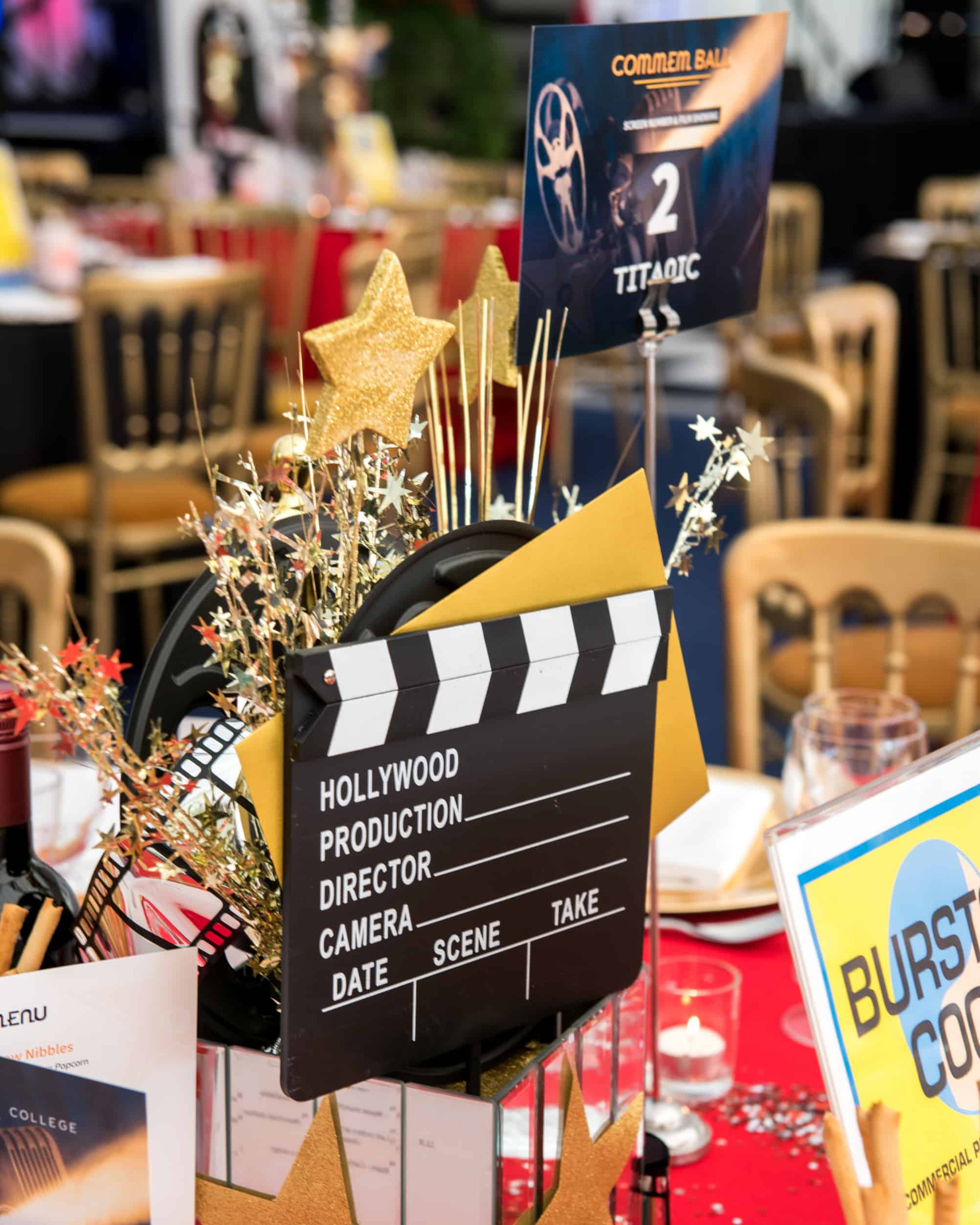 Movie style centrepieces