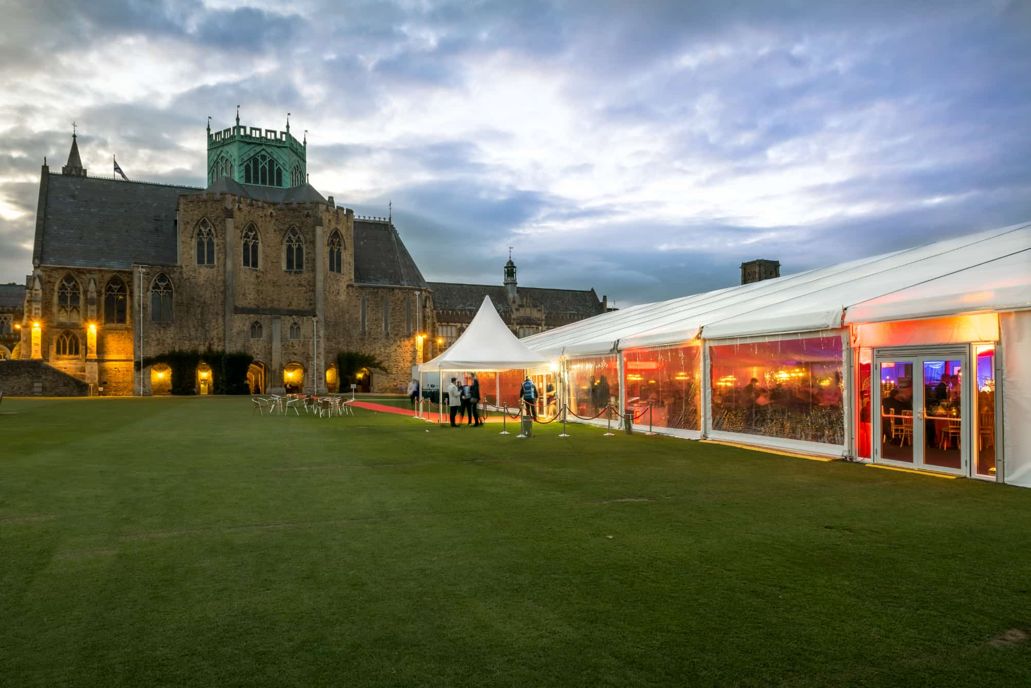 Marquee on the close at Clifton College