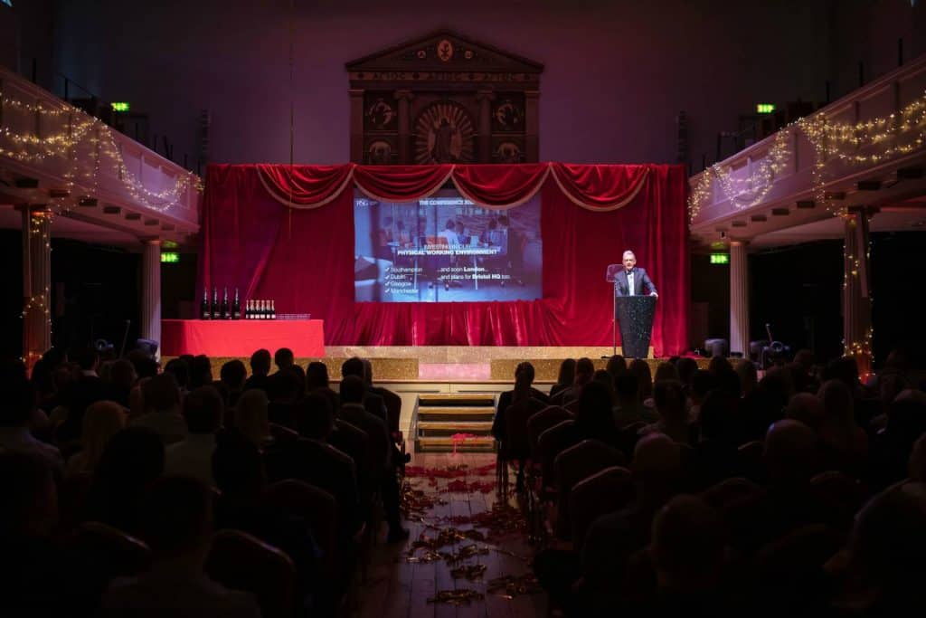 Cinema themed annual business conference planning by Alastair Currie Events