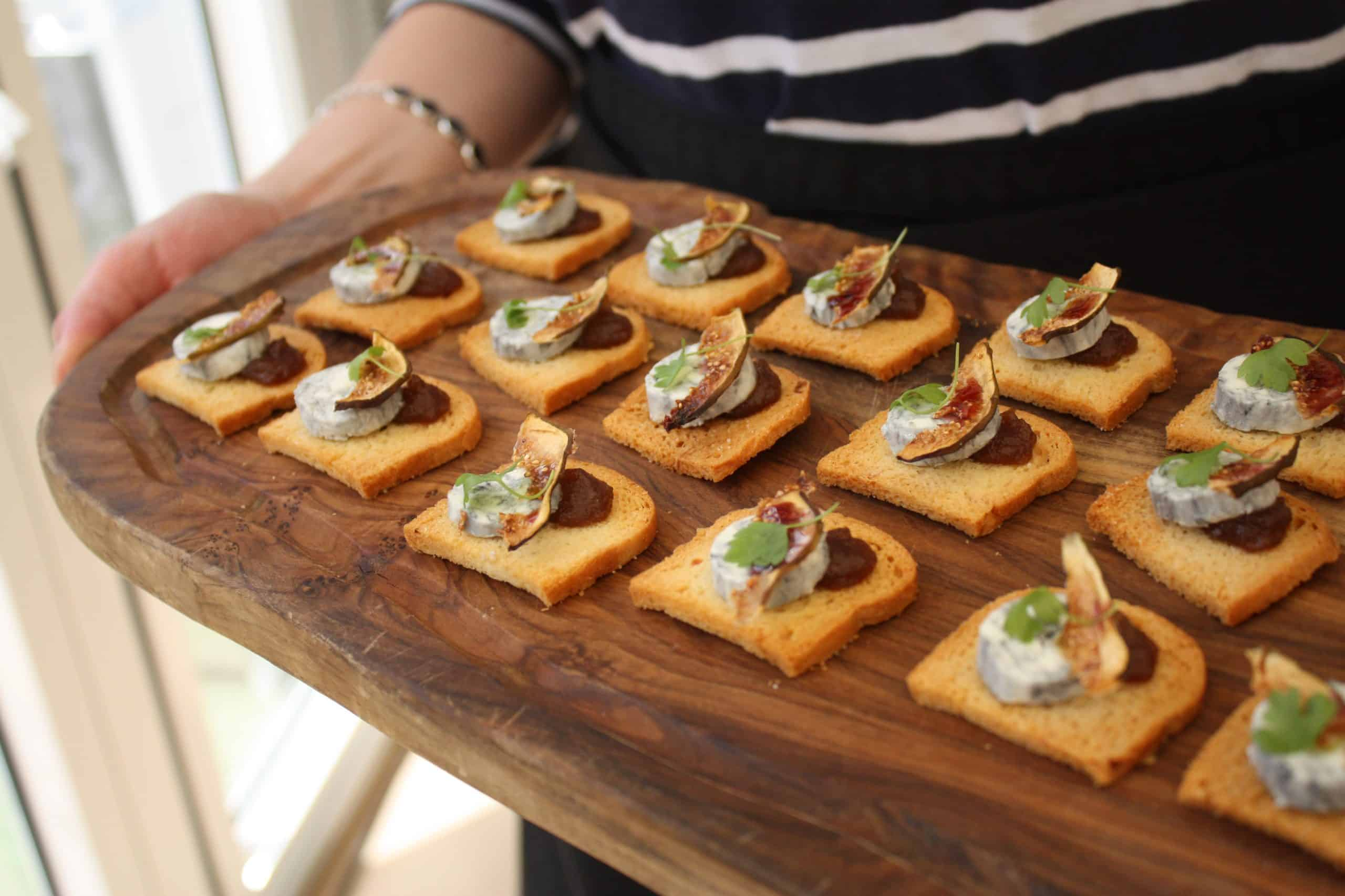 Beautiful Bristol Back Garden Wedding - gorgeous vegetarian canapes