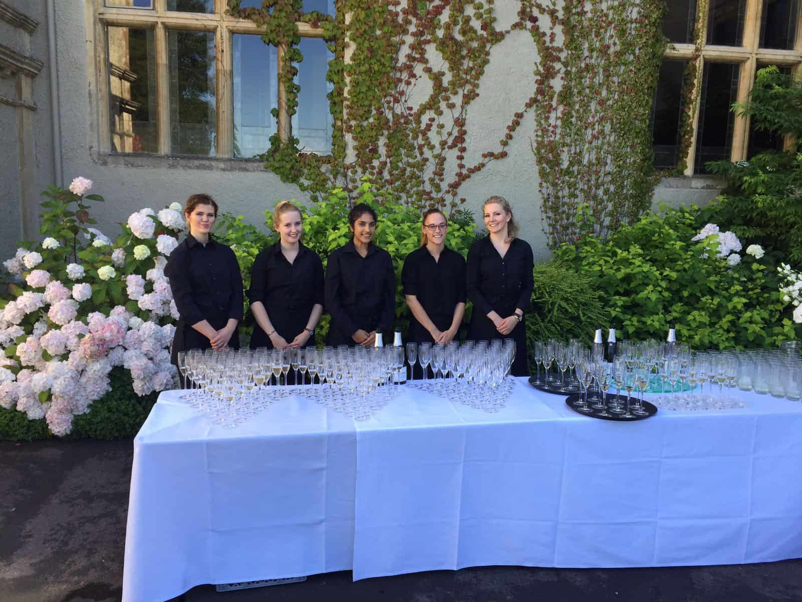 CMC Marquee The Down School Vintage Wedding - waiting staff