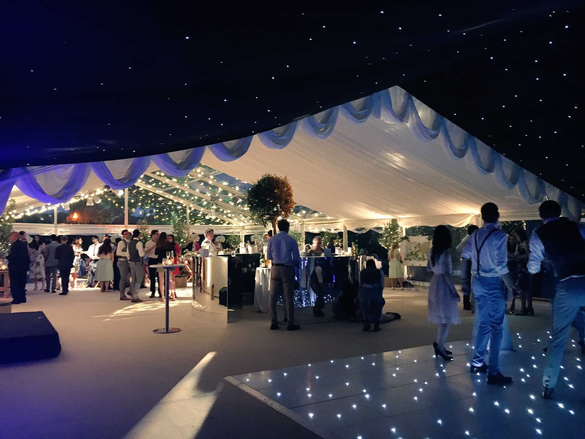 Beautiful Bristol Back Garden Wedding - dancefloor in the CMC Marquee