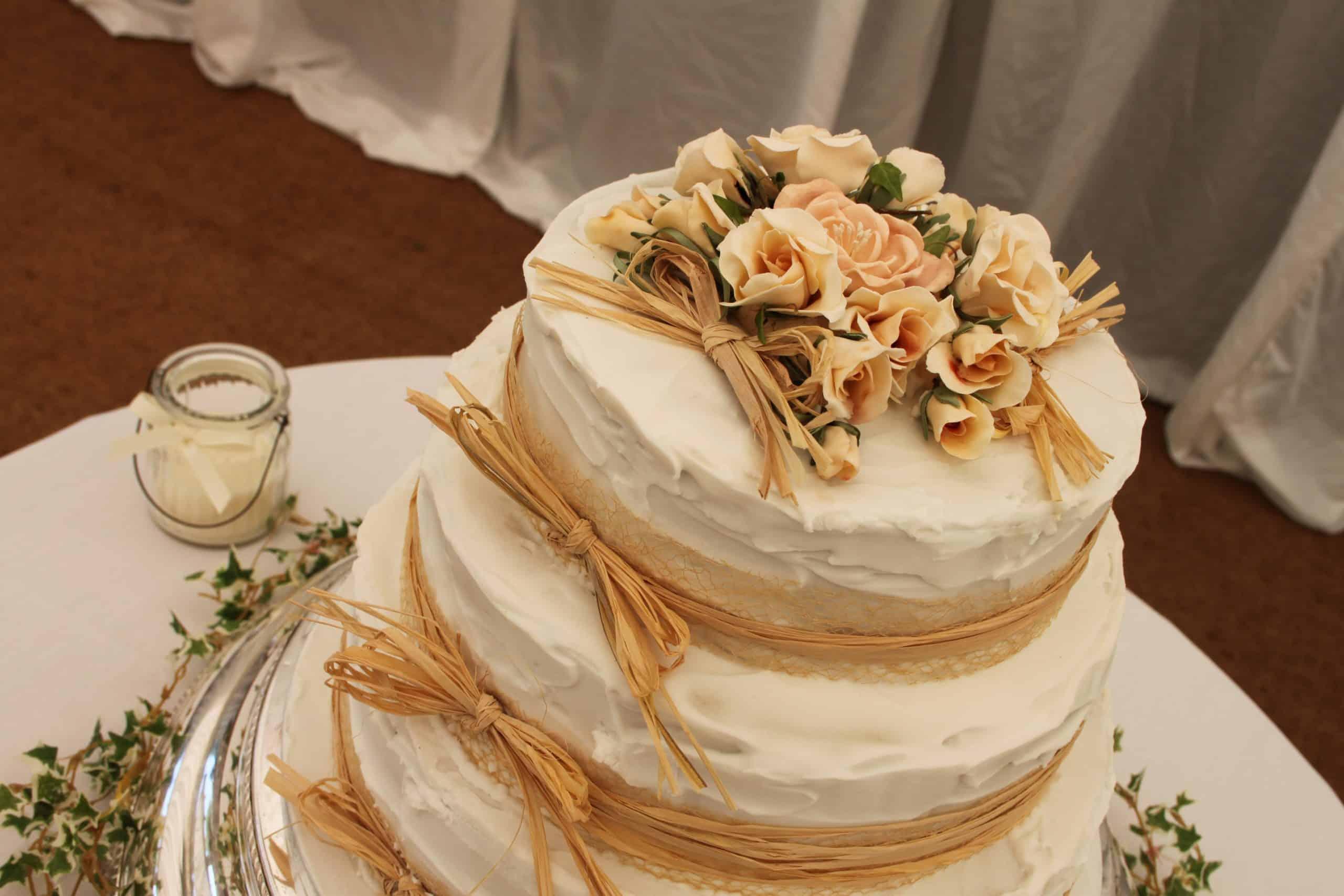 CMC Marquee The Down School Vintage Wedding - buttercream wedding cake
