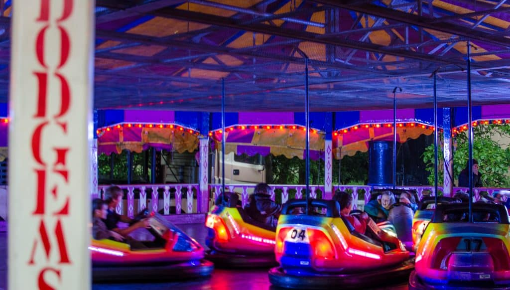 Dodgems set up for a fun filled party